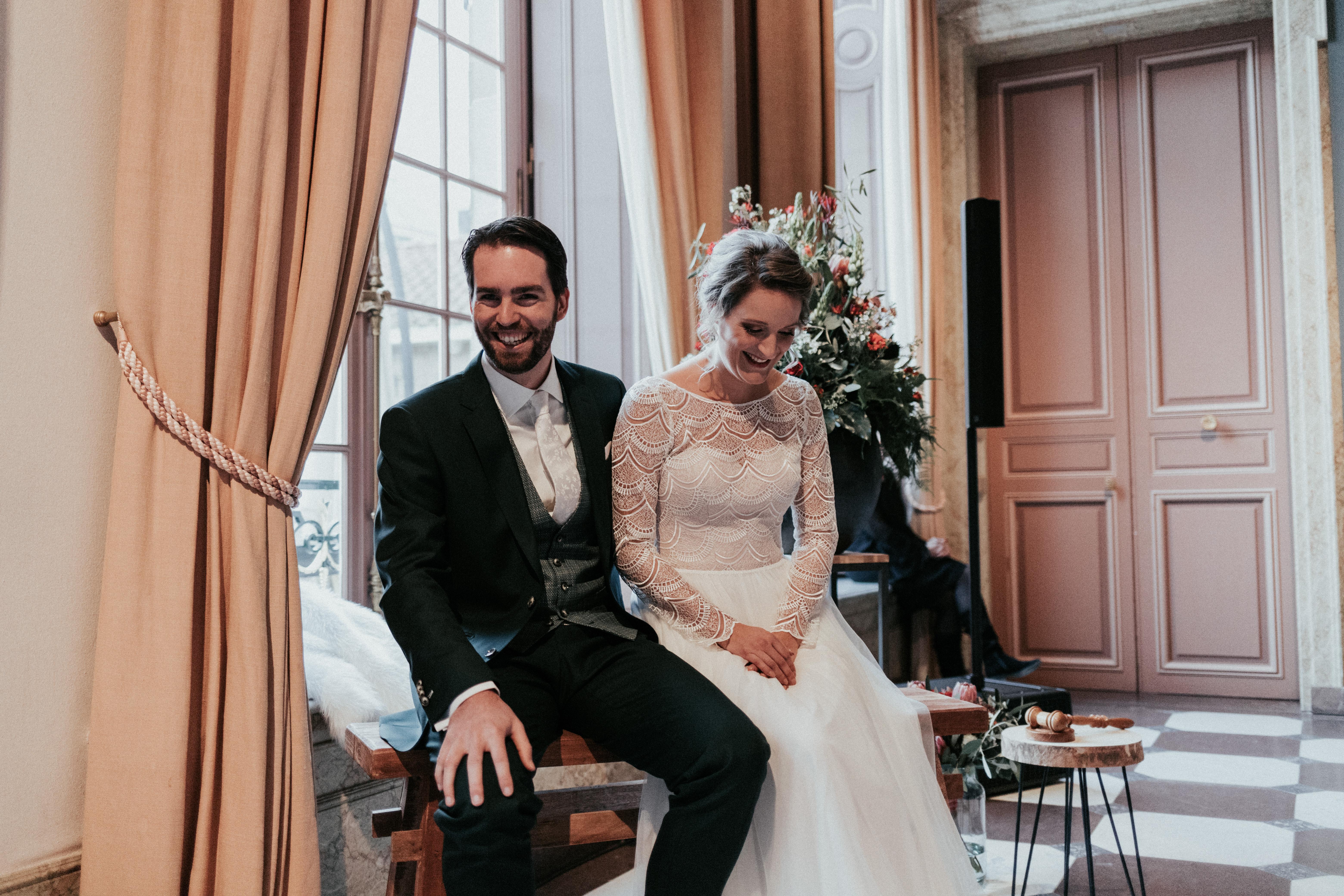 ceremonie tintelend trouwen